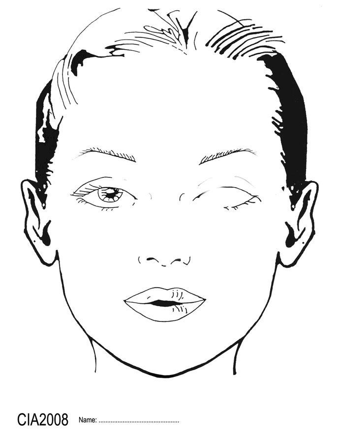 blank female face template - photo #27