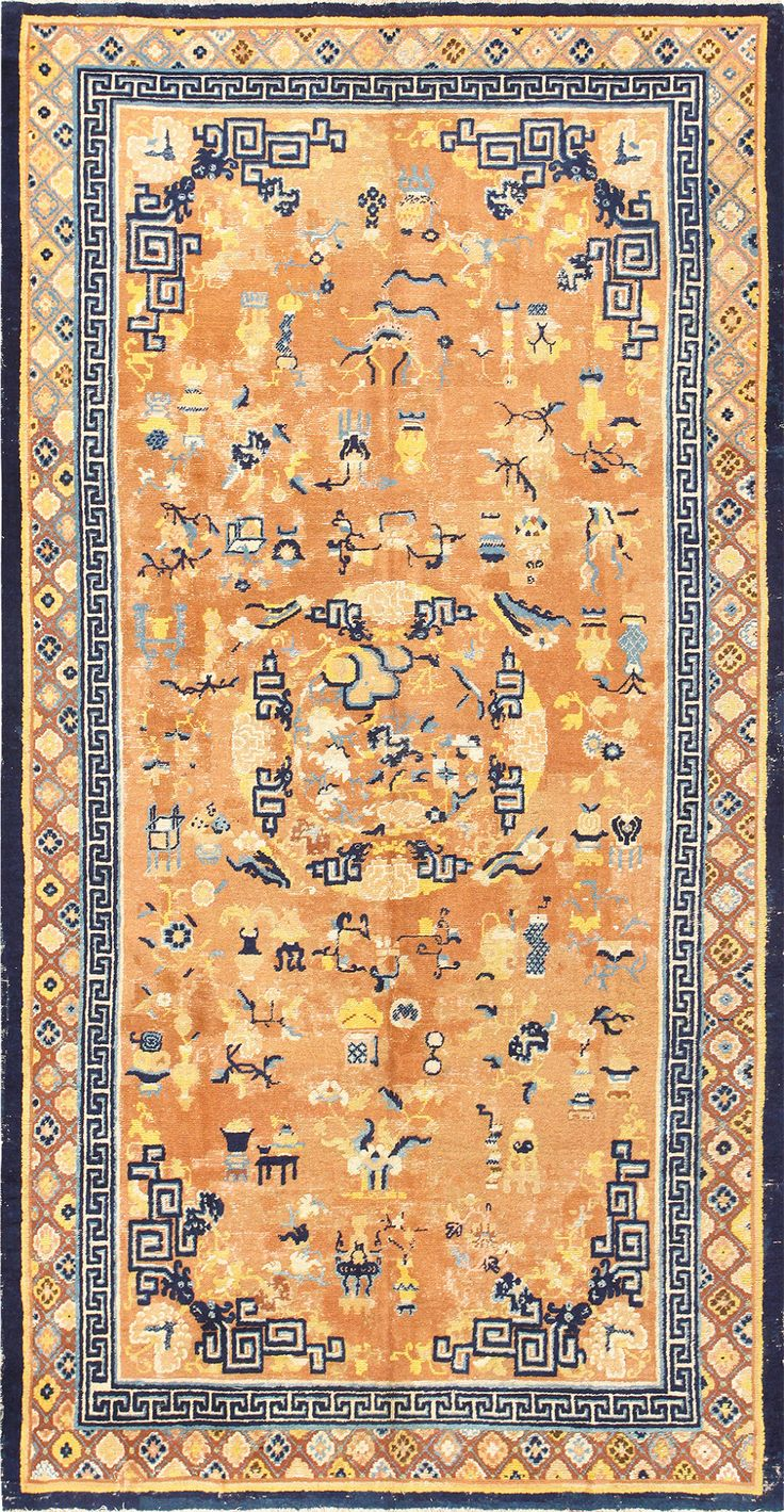 Beautiful Early 18th Century Antique Chinese Rug 48805