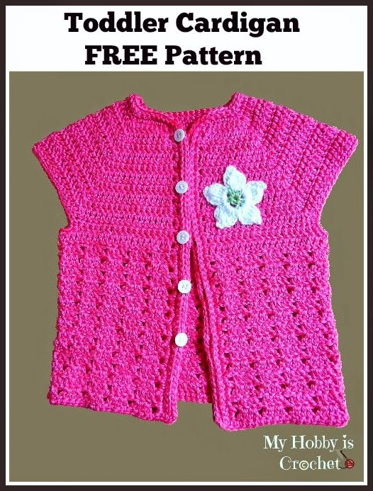This adorable toddler crochet cardigan would be perfect with a long-sleeve tee. Short Sleeved Toddler Cardigan - Media - Crochet Me