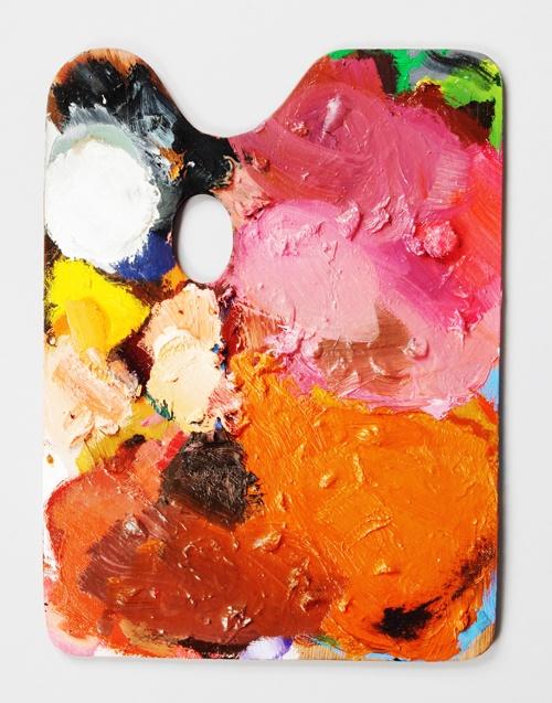 painted artists palettes | via partners & spade