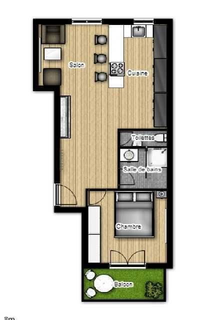 8 best am nagement plans 2d et 3d d 39 appartements images on pinterest street gabriel and room - Amenagement appartement 60m2 ...