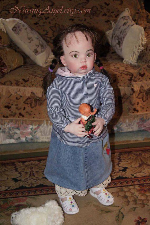 Tibby Toddler Reborn Doll Silicone Vinyl Soft Body Doll 31 Inch Doll Green Eyes Long Hair Doll Realistic Rebo Reborn Dolls Silicone Reborn Dolls Reborn Babies