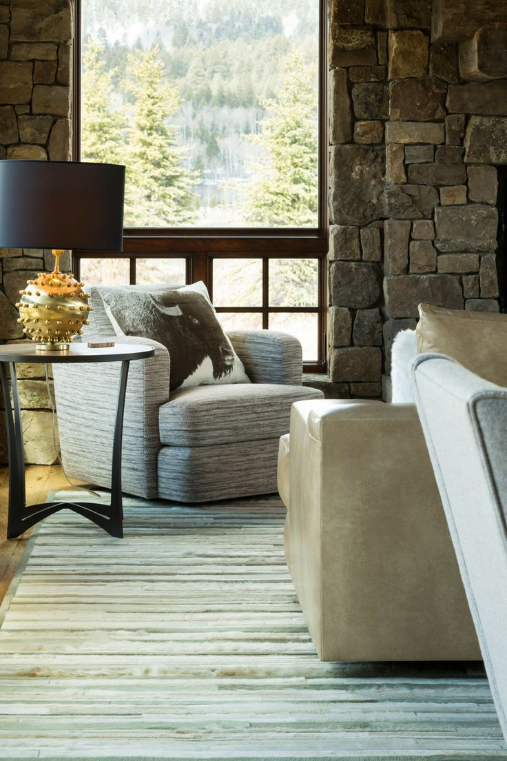 A Glam Lamp From Flair Home Collection Balances Rustic Details Like The Kyle Bunting Hide Rug