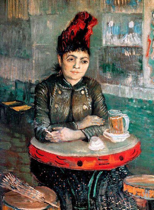 Vincent Van Gogh - Post Impressionism - Paris - Agostina Segatori au café du Tambourin