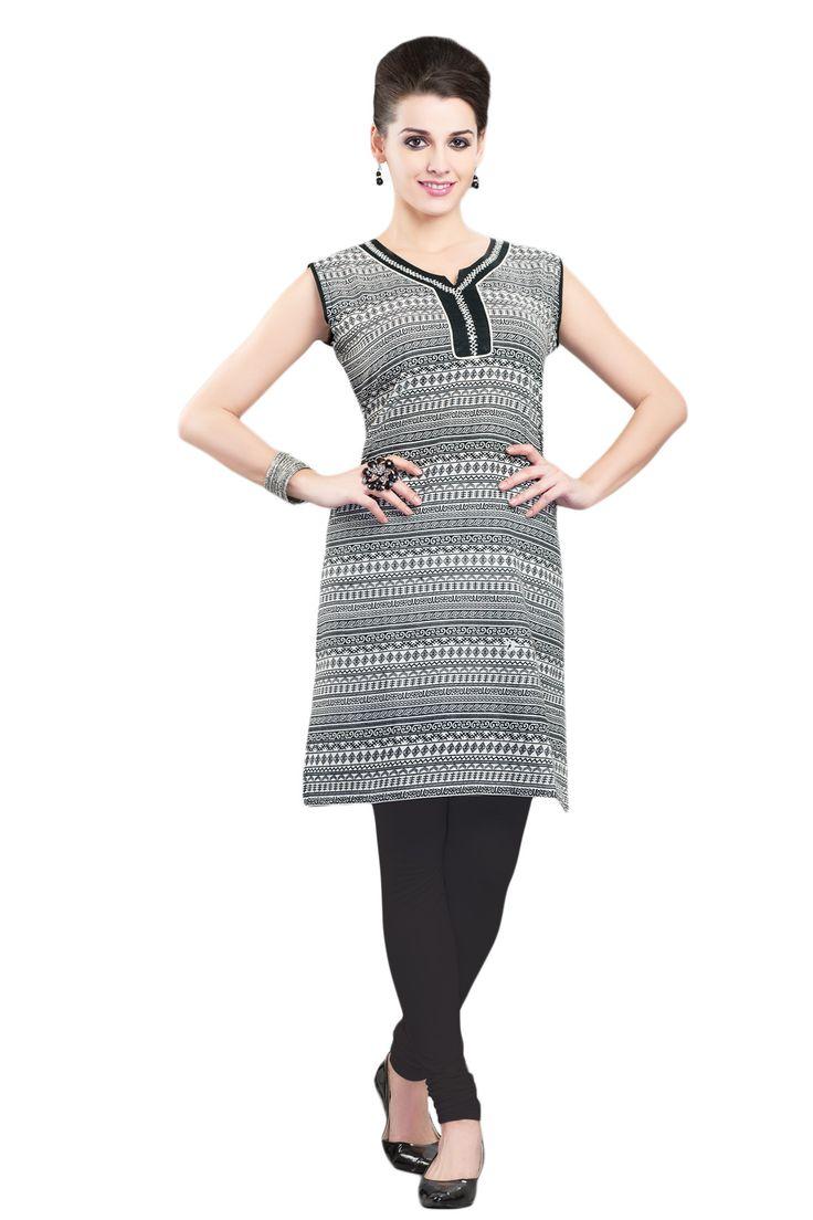 #Black&White #Kurti #Casualwear #Officewear #Occasionalwear buy at salwarstudio.com