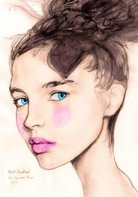 ArtDanny Roberts, Art Drawing, Fashion Models, Dannyrobert, Fashion Art, Blue Eye, Fashion Illustration, Portraits, Victoria Secret Models