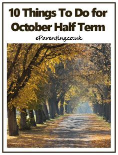 10 family events for October Half Term around the UK - great ideas for days out in October Half Term. #octoberhalfterm #halftermideas