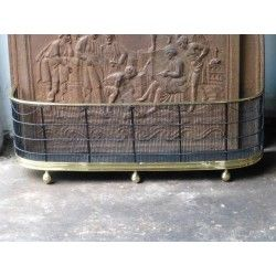 Antique fireplace fender - fire fender for sale at http://www.firebacks.net