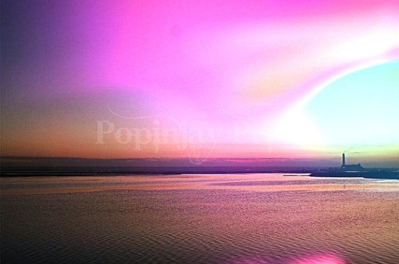Psychedelic Landscape by PopinjayPrints on Etsy, $17.00