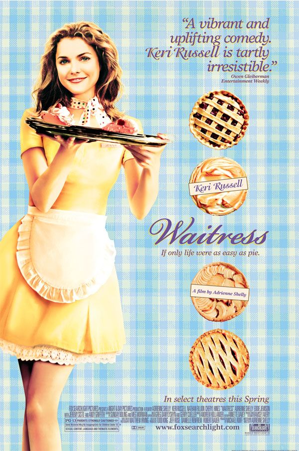Waitress Movie. Makes me laugh my head off+cooking is involved. It's a win-win.