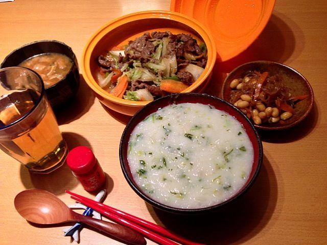 餅入り七草粥☞力七草粥 - 4件のもぐもぐ - ちから七草粥・タジン鍋 by yatchi