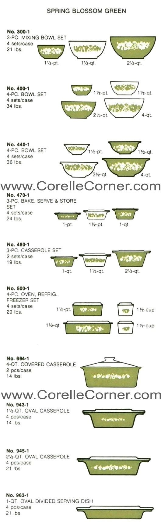 Pyrex Spring Blossom Green One Of My Favorites This Is The Pattern I Grew Seeing In Moms Kitchen