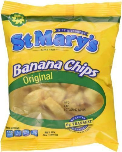 St Mary's Original Banana Chips - 1.06 ounce - 12 Packs #StMarys