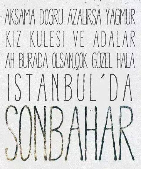 Teoman-İstanbul'da Sonbahar