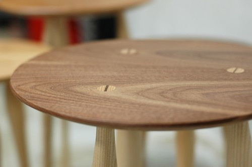 Walnut side table (medium)