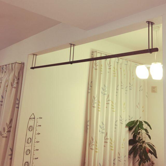 室内物干し 壁 天井 Diyのインテリア実例 2017 10 29 17 05 50