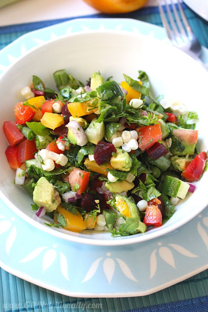Simple Healthy Eating Plan: Chopped Summer Salad