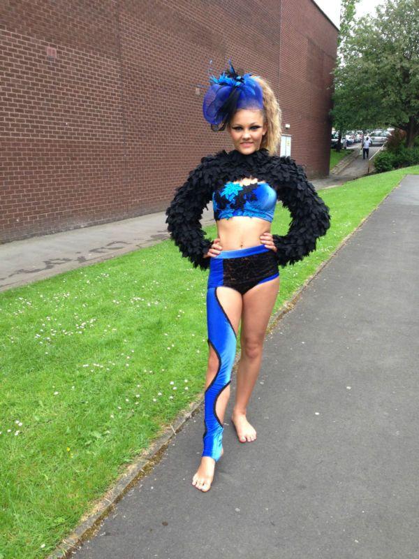 Girls Electric sleeveless leotard ALL SIZES dance gymnastics freestyle disco