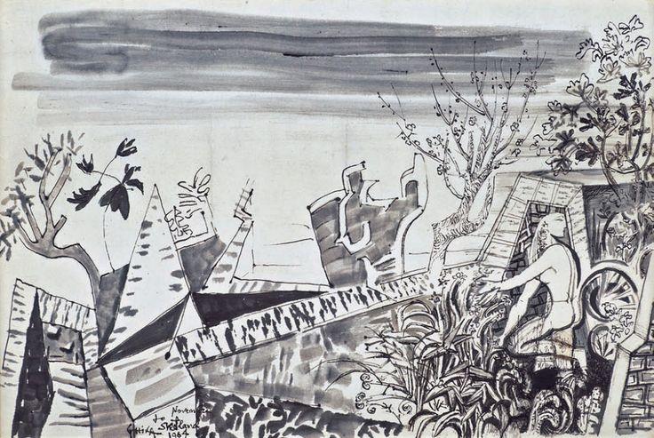 ΝΧΓ Γυναικεία μορφή σε Υδραϊκό τοπίο, 1964