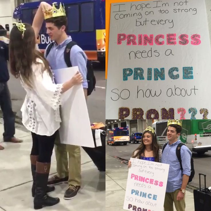 I hope I'm not coming on too strong but every princess needs a prince so how about prom??? Promposal I did for my boyfriend when he came back from Disney ☺️ #promposal #prom
