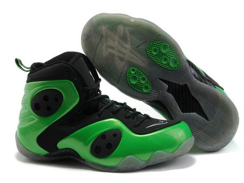 Nike Zoom Rookie LWP black and green basketball shoes for sale