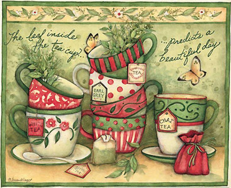 tea cup art - Google Search