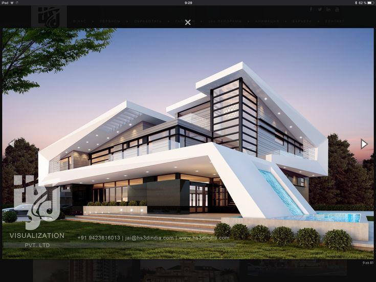 Admirable 3D Modern Architecture Exterior Design 3D Night Rendering By Interior Design Ideas Helimdqseriescom