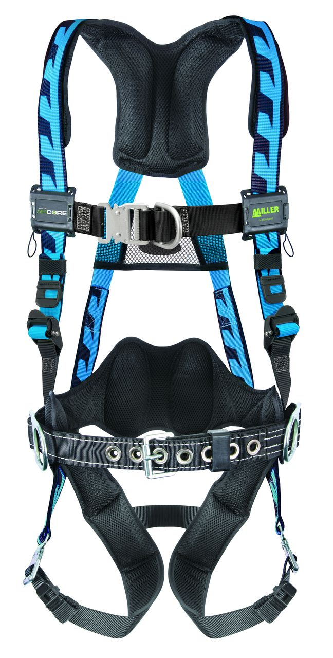 Miller ACF-QCBDP Blue Harness with 4 D rings and Removable Belt - Industrial Safety Products