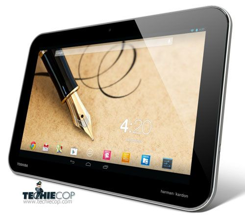 The design of Toshiba Excite Write is similar to Toshiba Excite Pro with Wacom digitizer under the display.