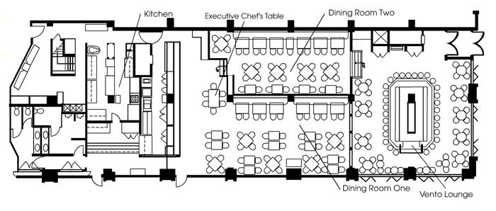 Restaurant blueprint layout interior pinterest for Blueprints of restaurant kitchen designs