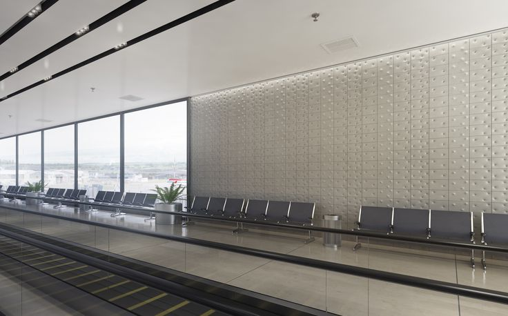 Visualisation of 'Button' for an airport lounge I KAZA Concrete
