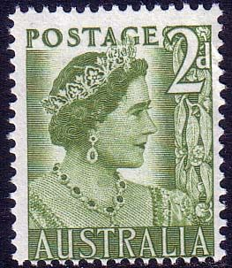 Australia 1950 Manley Queens Portrait 2d Fine Mint SG 237 Scott 230 Other Australian Stamps HERE