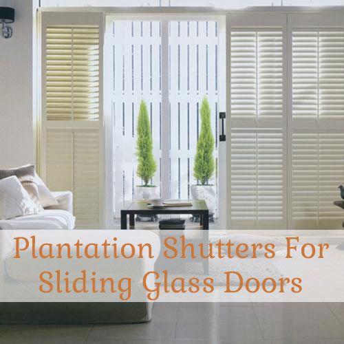 Find Plantation Shutters for Sliding Glass Doors - Blinds.com Blog & 82 best Door Blinds images on Pinterest | Blinds Shades blinds and ...
