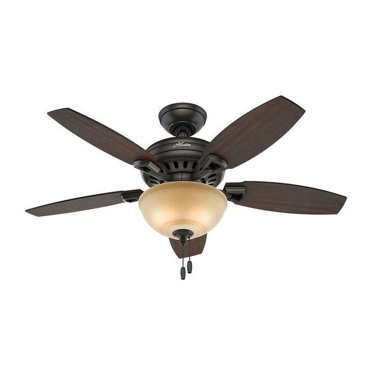 Hunter Holden 44 in. Indoor New Bronze Ceiling Fan with Light Kit