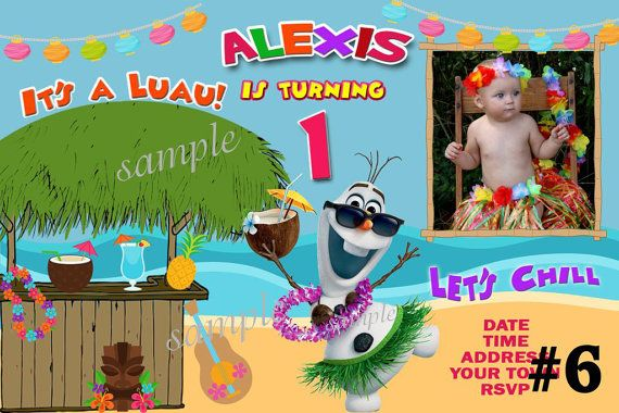20 Frozen Invitations Summer  Luau  20 Printed by LetsPartyShoppe, $20.00