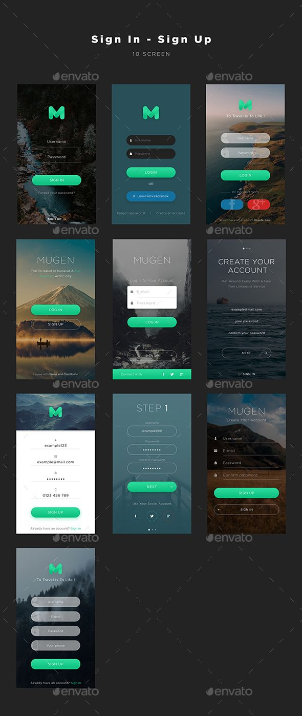 Mugen App UI KIT – Sign In & Sign Up (User Interfaces)