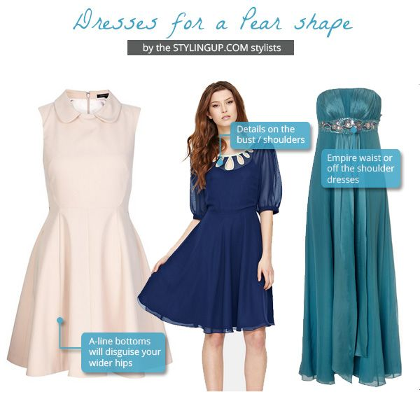 Fashionable dresses for pear shaped women