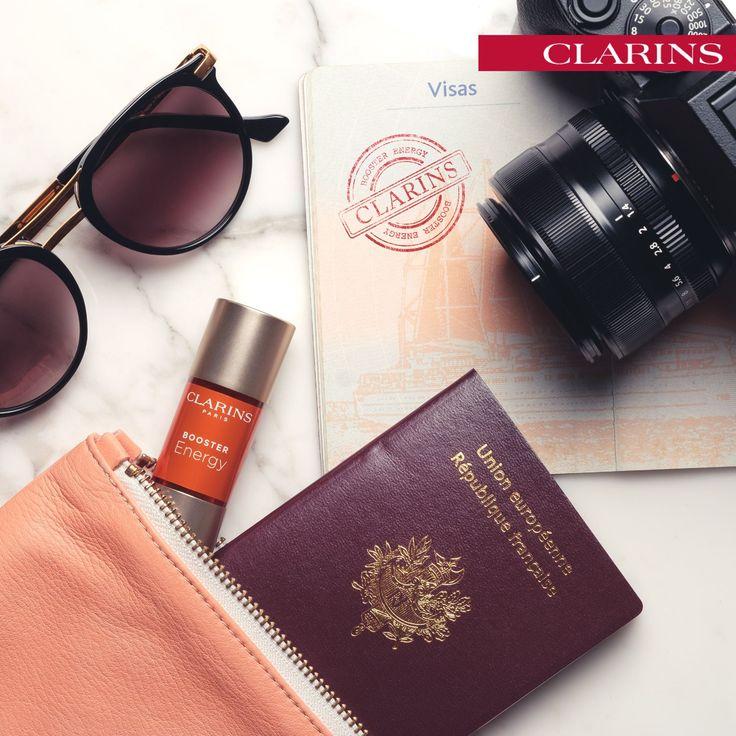 Para as suas férias, não se esqueça do Booster Energy na sua mala. Dê energia à sua pele neste Verão! 🌞🌞 #boosterenergy #clarins #espumadesabao #verão
