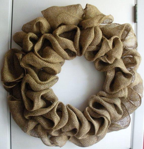 Burlap wreath.