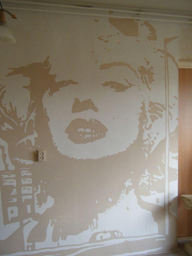 muur schildering muurschildering wallart wall art home and life style maison kinderkamer canvas art dress to impress woonkamer zolder marilyn monroe www.artof-life.nl