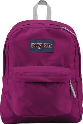 JanSport SuperBreak Backpack Berrylicious Purple - #travel #packing #checklist #tips #luggage