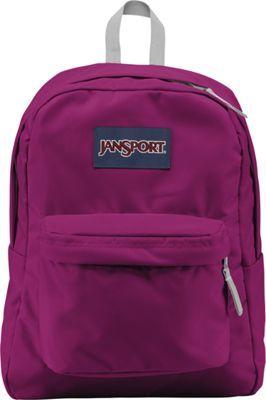 JanSport SuperBreak Backpack Berrylicious Purple - #travel #packing #checklist #tips #luggage