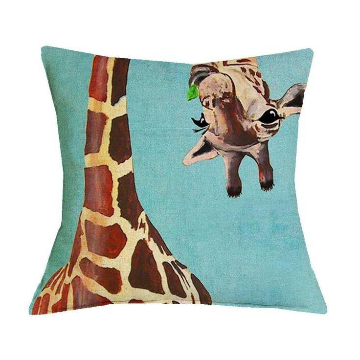 Animal Prints Giraffe Pillow Case Animal Case Giraffe Ilustration Pillow Prints Giraffe Art Wall Kids Animal Drawings