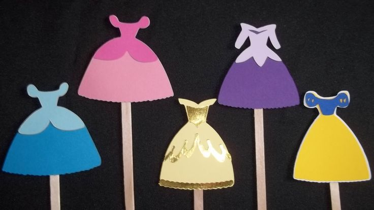 Set of 12 Disney Princess Dress Cupcake Toppers, Princess Party Decor, Princess Birthday, Princess Baby Shower, Disney Decor by LittleMissStarchick on Etsy