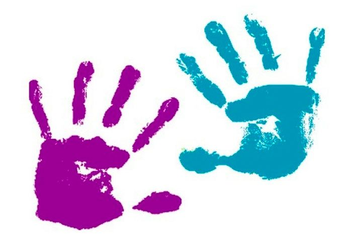 Детские отпечатки рук картинки