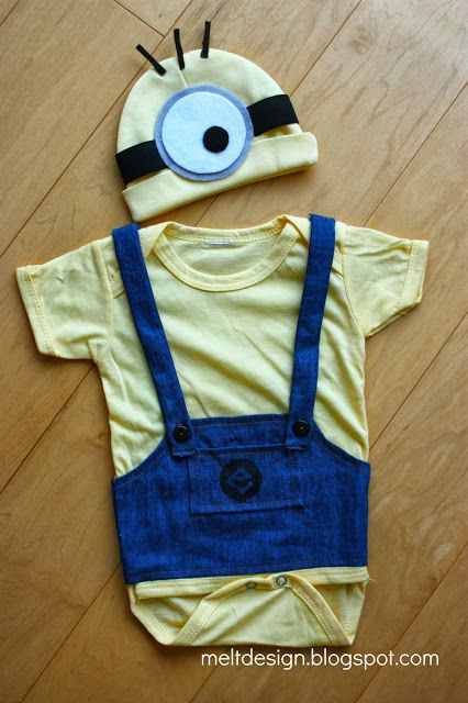 DIY Baby #Minion Outfit #despicable me