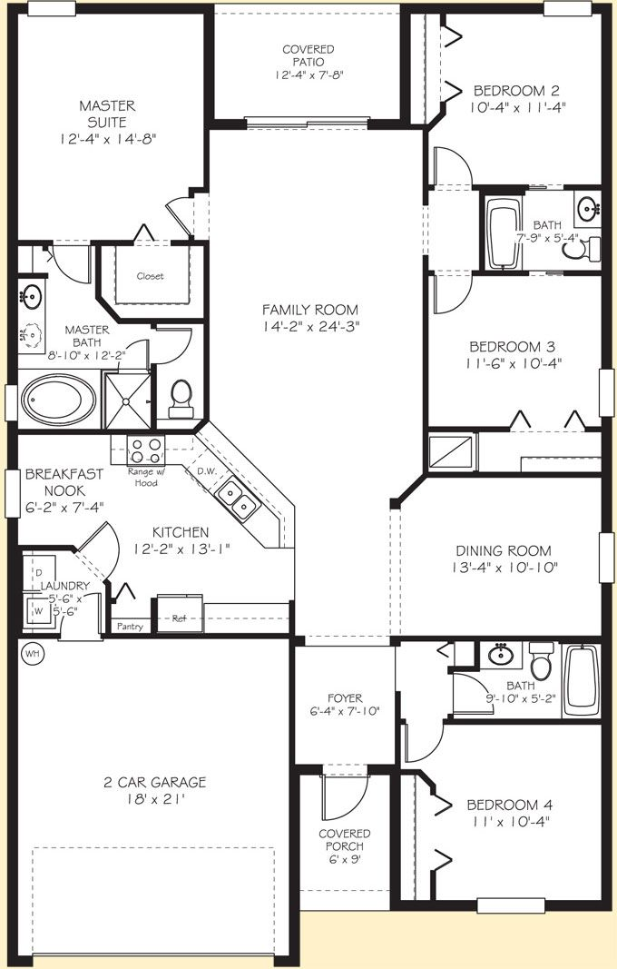 Lennar Homes The Normandy Floor Plan is Jack and Cindys