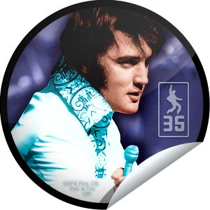 Elvis Presley: 35th Anniversary -  The king's classic rock n' roll songs live on in your heart. Don't forget Elvis Week 2012 begins on August 10th and runs through the 18th. Share this one proudly. It's from our friends at Elvis Presley Enterprises.
