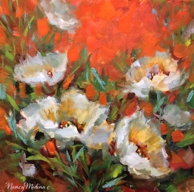 """Moon Garden White Tulips and a San Diego Workshop"": Nancy Medina."