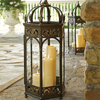 Patio Candle Lighting #candlelight #patio #lighting